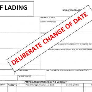 Consecuencias de cambiar la fecha de emisión de Conocimientos de Embarque: SINOCORE INTERNATIONAL CO. LTD & RBRG TRADING (UK) LIMITED